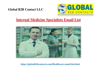 Internal Medicine Specialists Email List
