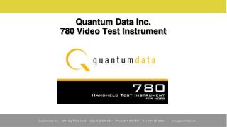 Quantum Data Inc. 780 Video Test Instrument