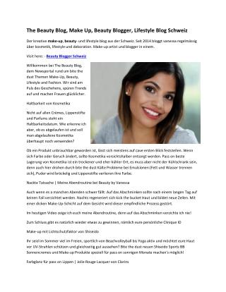 The Beauty Blog, Make Up, Beauty Blogger, Lifestyle Blog Schweiz