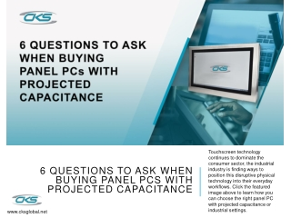 6 Questions to Ask When Buying Panel PCs with Projected Capacitance