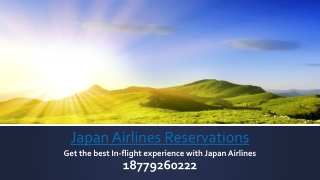 Get the best In-flight experience with Japan Airlines