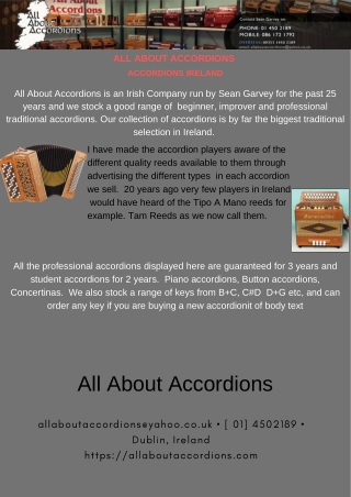 Professional Traditional Accordions