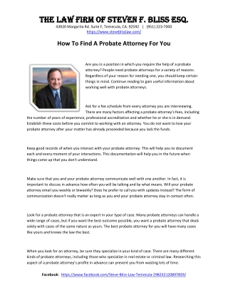 How To Find A Probate Attorney For You