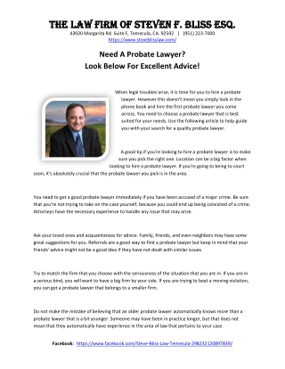 Need A Probate Lawyer