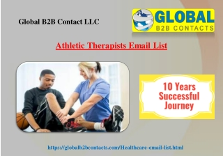Athletic Therapists Email List