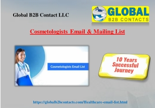 Cosmetologists Email & Mailing List