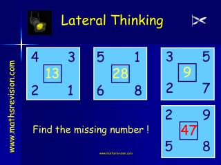 Find the missing number !