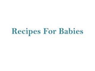 Baby Health Information