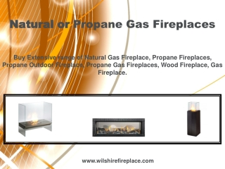 Natural or Propane Gas Fireplaces
