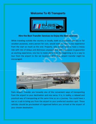 CDG Airport Transfer, Paris Airport Transfer