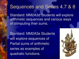 Sequences and Series 4.7  8