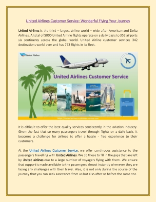 United Airlines Customer Service Reach us Team To Get Assistance