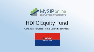 Detailed Information of HDFC Equity Fund By MySIPonline