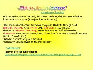 What is a Literature Cyberlesson?