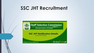 SSC JHT Recruitment 2018-19   Get Computer Based Exam Date For SSC JHT