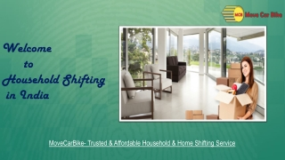 Best Household Shifting Packers and Movers in India