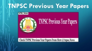 TNPSC Previous Year Papers | Collect Last 10 Year Test Paper & Answers