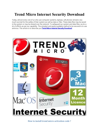 trend micro internet security download