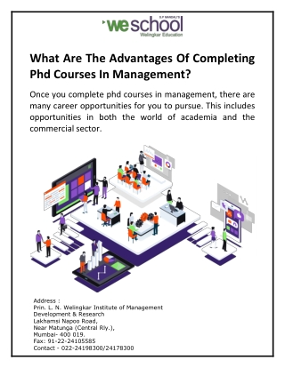 What Are The Advantages Of Completing Phd Courses In Management?