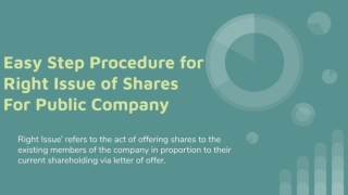 Easy Step Procedure for Right Issue of Shares for Public Company