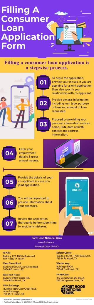 Filling A Consumer Loan Application Form