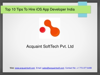 Top 10 Tips To Hire iOS App Developer India
