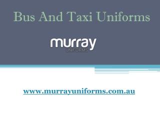 Bus/Taxi Uniforms - Murray Uniforms