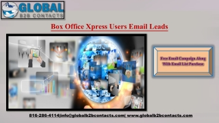 Box Office Xpress Users Email Leads
