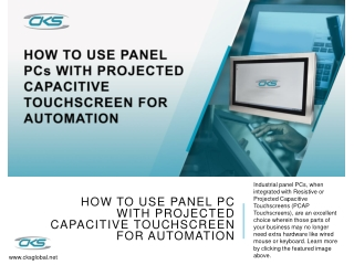 How to Use Panel PCs with Projected Capacitive Touchscreen for Automation
