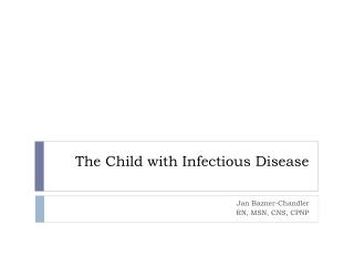 The Child with Infectious Disease