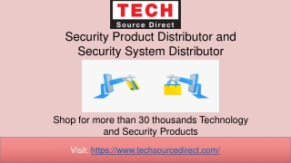 Security Product Distributor Security System Distributor