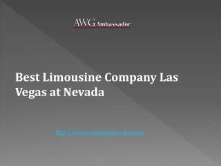 Best Limousine Company Las Vegas at Nevada