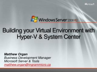 Microsoft Virtual Server   Host Clustering