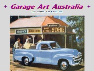 Metal Car Signs Vintage