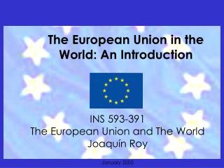 The European Union in the World: An Introduction