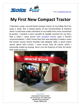 My first new compact tractor