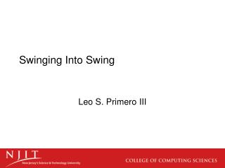 Swinging Into Swing