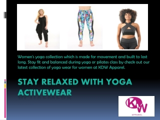 Best Activewear to Keep You Motivated | KDW Apparel