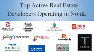 Top Active Real Estate Developers Operating in Noida