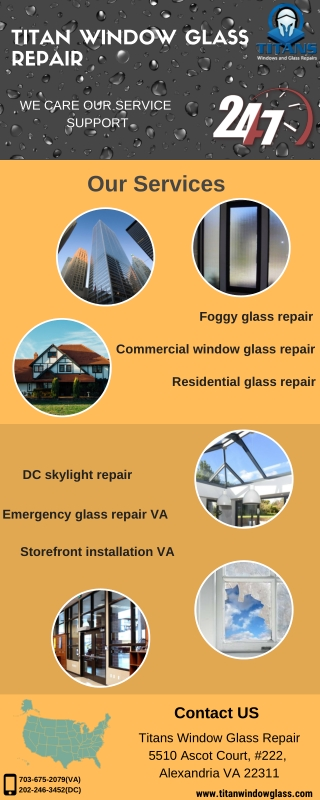 Get Solution for Foggy glass repair at Titan Window Glass