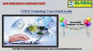 COGZ Technology Users Email Leads