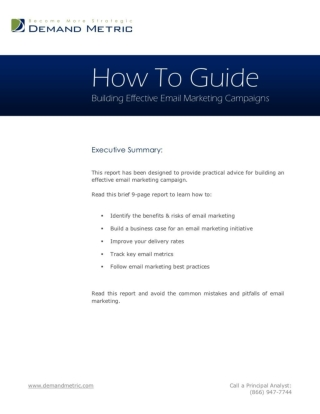 Building Effective Email Marketing Campaigns