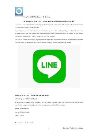 4 Ways to Backup Line Chats on iPhone and Android