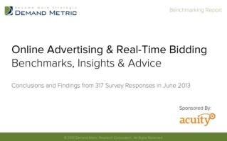 Online Display Advertising Benchmark Report