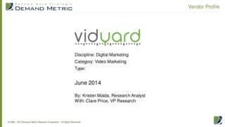 Vendor Profile: Vidyard