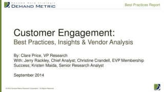 Customer Engagement Best Practices Report