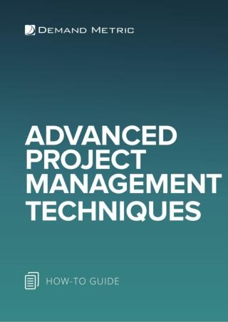 Advanced Project Management Techniques