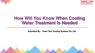 How Will You Know When Cooling Water Treatment Is Needed