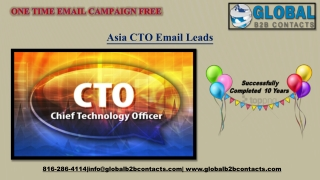 Asia CTO EmailLeads