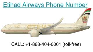 1-888-404-0001 @ Etihad Airways Phone Number